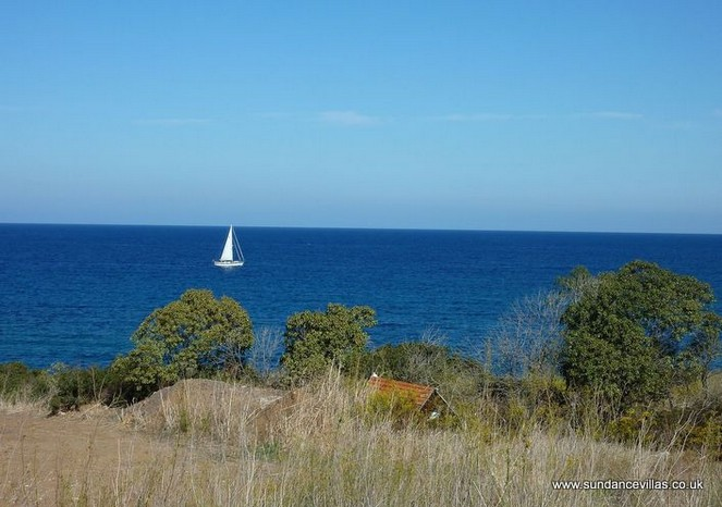 32 Villa Amorosa, Latchi, Polis, Cyprus. Garden to sea view.