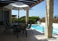 Level access. Polis villa. Terrace shade. Roman steps, pool