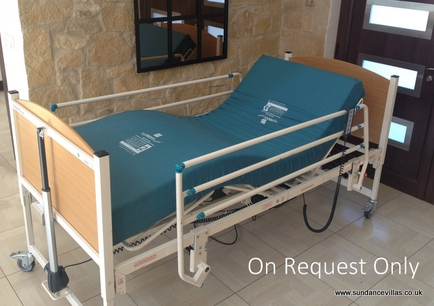 Profiling bed & disability items available at holiday Villa Ampelitis, Cyprus